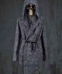 harajuku gothic winter fashion slim fit dress mens pea coat with hood wool coat for men jackets and coats peacoat plus size 4xl
