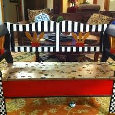 Hand Crafted Hand Painted Pine Plank Benches By ECustomFinishes Hand Painted Benches