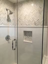 Bathroom Tiling Design Love The This Shower And The Gray And White Tile Chevron Marble