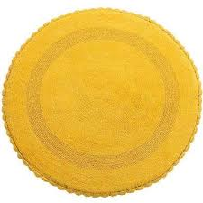crochet lace 36 in round cotton reversible yellow