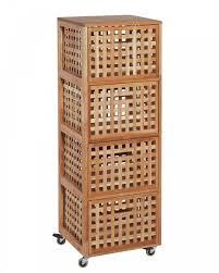 Meuble Haut Salle De Bain Bambou Badezimmer Tall Cabinet Storage
