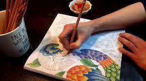 Pencil Crayon Blending Adult Coloring Book Youtube