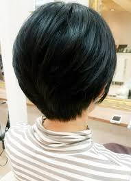 40代50代に人気フォルムがきれいな大人ショートボブ 原宿 For 髪型