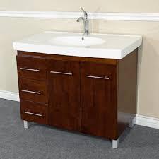 left sink vanity. Fine Vanity Bathroom Vanities  39 In Single Sink Vanity Wood Walnut Left Side Drawers  203129WL For L