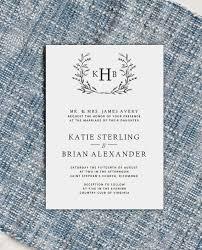 Monogram Wedding Invitation Template Diy Wedding Invite