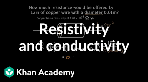 Resistivity And Conductivity Video Khan Academy