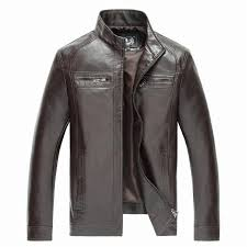 brand new leather jackets men jaqueta de couro masculina avirex leather jacket inverno couro mens stand