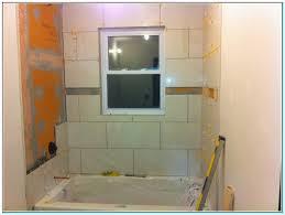attractive bathtub surround with window ilration bathroom with