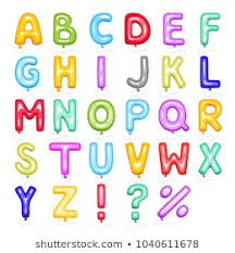 colored bubble letters cartoon style alphabet colored vector seamless stock vector royalty