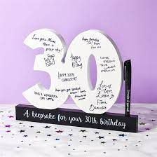 Stylish, personalised 30th birthday present ideas for him and her. 30th Birthday Gifts Present Ideas For Her Find Me A Gift