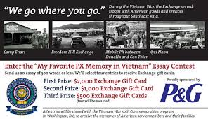 exchange essay contest highlights px memories in vietnam article  the air force exchange service along procter gamble is commemorating