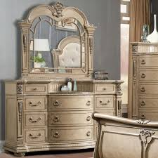 Bedroom Ideas Magnificent Dresser And Mirror Set Gold Mirrored