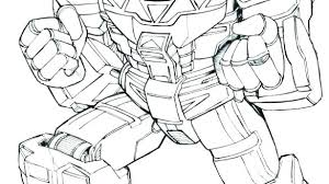 Power Rangers Dino Charge Red Ranger Coloring Pages Megazord Thunder