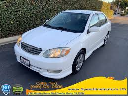 used 2003 toyota corolla in garden grove california sdline motors garden grove