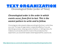 Chronological Words Leq What Words Signal A Chronological Order Text Organization