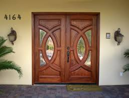 interior wooden glass door design