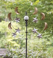 windweather solar staroons garden wind spinner