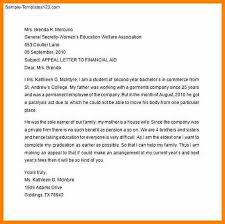 Letter Of Appeal Sample Template Inspiration 48 Financial Aid Appeal Letter West Of Roanoke