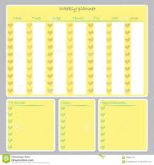 Weekly Planner Organizer To Do List Notes Calendar Printable Stock