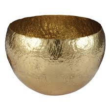 Decorative Bowls For Tables Three Hands Gold Resin Footed Bowl 60 The Home Depot Bedroom 43
