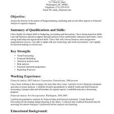 Financial Analyst Resume Template Financial Analyst Resume Example Financial Analyst Resume Samples 16