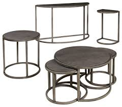 decor of round coffee table sets hammary rotation 4 piece round coffee table set with metal