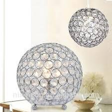 crystal ball lamp droplets ceiling pendant light shade jewel chrome chandelier table beside restoration hardware crystal ball