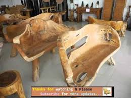 Rustic garden furniture Solid Wood Techsnippets Garden Furniture Ideas Outdoor Furniture Rustic Style Romance