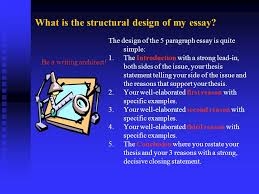 the paragraph persuasive essay ppt  what is the structural design of my essay