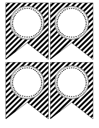 Blank Birthday Banner Printable Birthday Banner Template Black And White Theveliger