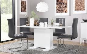gallery osaka white high gloss extending dining table