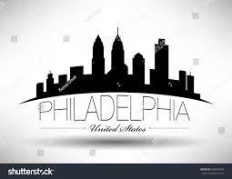 Graphic Design Philadelphia Vector Graphic Design Philadelphia City Skyline Stock Vector
