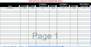 Weight Loss Percentage Spreadsheet Biggest Loser Weight Chart Printable Loss Template Lovely Download