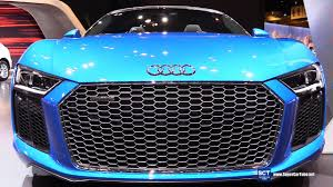 2018 audi r8 spyder. beautiful audi 2018 audi r8 spyder 52 fsi  exterior interior walkaround 2017 chicago  auto show youtube and audi r8 spyder