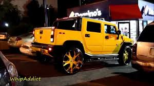 WhipAddict: Yellow Hummer H2 SUT on Yellow Asanti 30s: Atlanta, GA ...