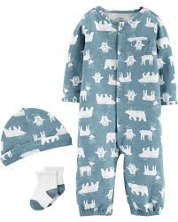 Carters Clothing Chart 3 Piece Babysoft Converter Gown Set Carters Com