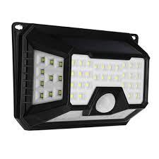 arilux waterproof 3 5w 66 led solar light pir motion sensor wall lamp 3 modes