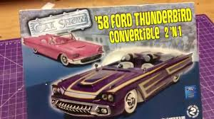 Revell 58 Ford thunderbird convertible - YouTube