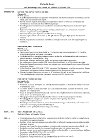 Principal Test Engineer Resume Samples Velvet Jobs