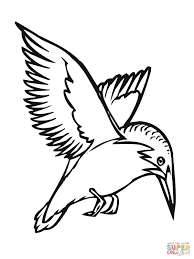 Small Picture Flying Kingfisher coloring page Free Printable Coloring Pages