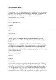 Sample Cover Letters For Employment Job How To Write A Resume