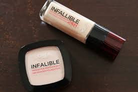 l oreal paris infallible 24h stay fresh foundation and powder foundation