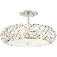 brushed nickel semi flush ceiling light platinum legion 3 in lights john lewis jamieson satin