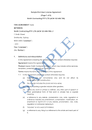 End User License Agreement Template Sample Lawpath