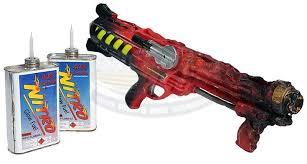 Squirt gun flame thrower