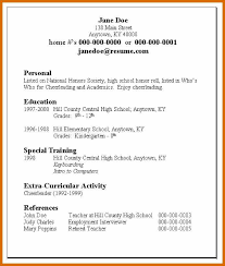 Examples Of Teenage Resumes Magnificent 4848 Resume Examples For Teens Genericresume