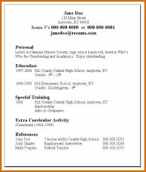 Teen Sample Resume Simple 4848 Resume Examples For Teens Genericresume