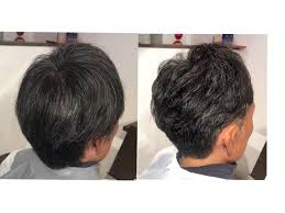 40代男性の硬い髪をツーブロックで上品に仕上げましたリプラス所属