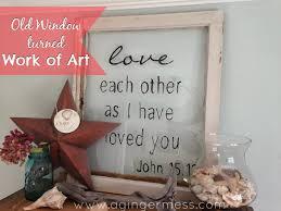 diy old window turned work of art
