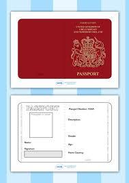 Free Passport Template For Kids Twinkl Resources British Passport Template Printable resources 8